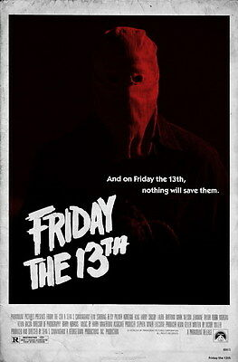 """006 Friday The 13th - USA Classic Horror Thriller Movie 24""""x36"""" Poster"""
