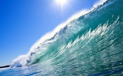 "011 GIANT WAVE - Sea Surfing 38""x24"" Poster"