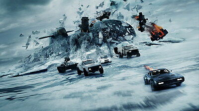 """020 Fast and Furious 8 - Vin Diesel Car Race Ation 2017 Movie 42""""x24"""" Poster"""