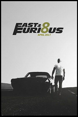 """017 Fast and Furious 8 - Vin Diesel Car Race Ation 2017 Movie 24""""x35"""" Poster"""
