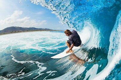 "014 GIANT WAVE - Sea Surfing 36""x24"" Poster"
