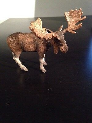 Brown Bull Moose in Standing Position by Schleich Figure