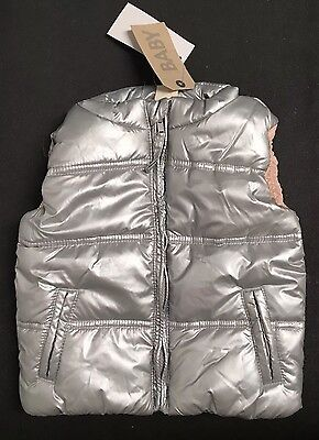 NEW COTTON ON KIDS Baby Girls Puffer Vest Jacket Size 6-12 Month Sze 0 RRP$32.95