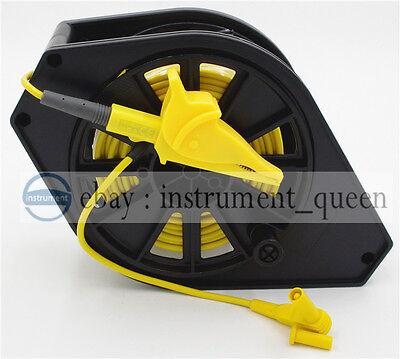 Yellow Cable Reel for GEO Earth Ground Resistance Testing Meter Test Leads