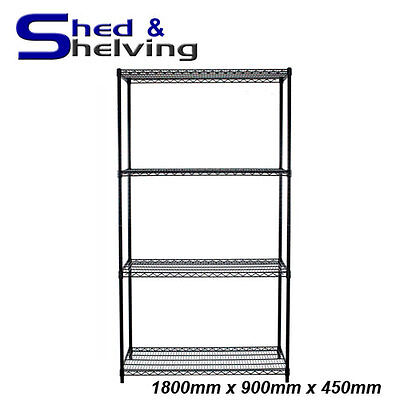 1800x900x450mm Epoxy Coated Wire Mesh Shelving Moisture Resistant Cold Storage