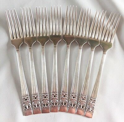 Oneida CORONATION 8 Dinner Forks Community Silverplate Flatware