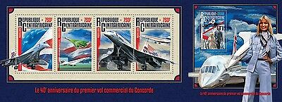 Z08 CA16204ab CENTRAL AFRICA 2016 Concorde MNH Set