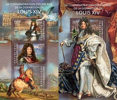 CA15120ab Central Africa 2015 Louis XIV MNH SET