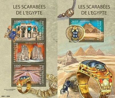 Z08 CA15323ab CENTRAL AFRICA 2015 Scarabs from Egypt mint never hinged MNH SET