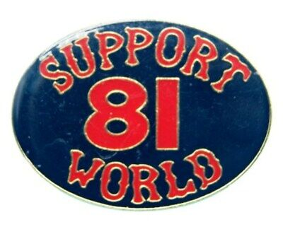 "Hells Angels Support Pin ""SUPPORT 81 WORLD"""