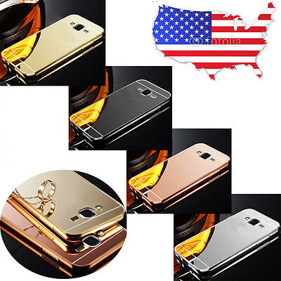 For Samsung Galaxy Model Luxury Aluminum Ultra-thin Mirror Metal Case Cover