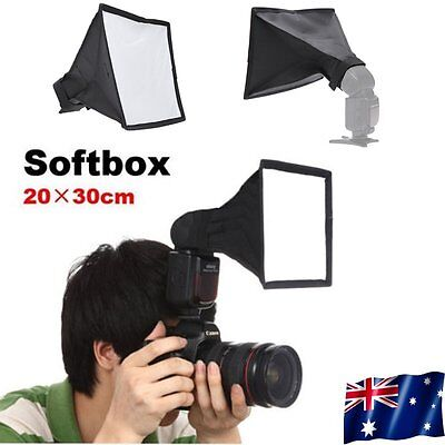 20x 30cm Universal Mini Portable Softbox Diffuser for Flash Speedlite Speedlight