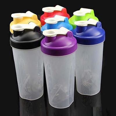 400/600Ml Gym Protein Supply Drink Blender Mixer Shaker Shake Ball Bottle Cup