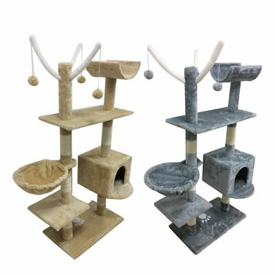 Cat Kitten Scratching Post Tree Scratcher Bed Tower Activity Centre Climbing Toy