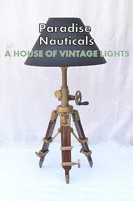 Pottery Barn Metal Nautical Tripod Desk Lamp E27 Light Holder Home Wedding Lamp.