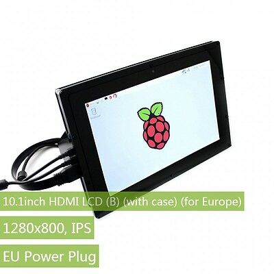 10.1inch HDMI LCD (B) (with case) 1280×800 IPS with EU Adapter for Raspberry Pi