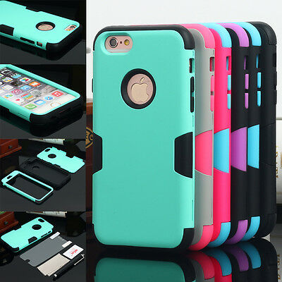 Hybrid Heavy Duty Hard Shockproof Rubber Case Cover For Apple iPhone 6 Plus 6S +