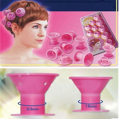 10pcs Hairstyle Soft Hair Care DIY Peco Roll Hair Style Roller Curler Salon Home