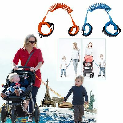 Baby Child Toddler Safety Harness Wrist Buddy Walking Strap Anti Lost Safe -AU