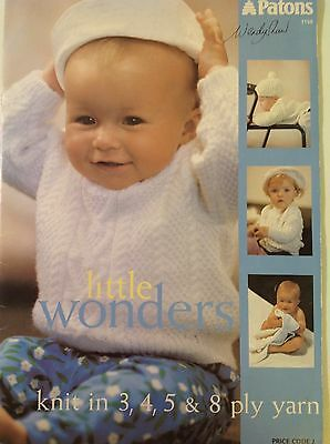 Vintage Patons Wendy Shaw baby   knitting pattern book 3,4,5,8ply Little Wonders