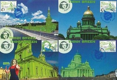 Z08 PETP1601a_MC RUSSIA PETER POST 2016 Think green MNH Menta *