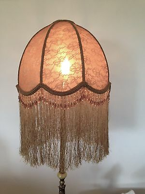 Lovely Gold Colored New Hand Crafted  Lace  Shade For Floor Lamp