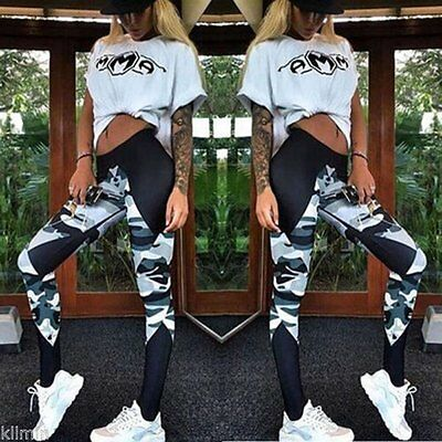 womens Yoga Sports Pants Athletic Leggings Clothes Fitness Gym Work Out Stretch