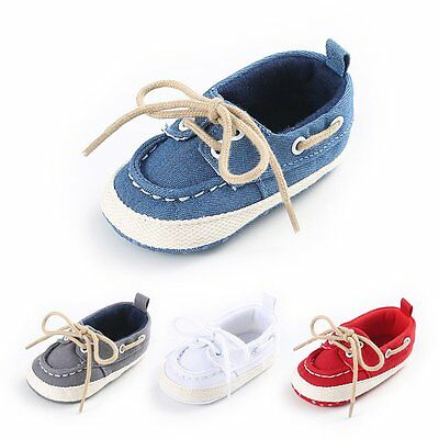 Newborn Baby Girl Soft Sole Leather Crib Shoes Anti-slip Sneaker Prewalker 0-12M