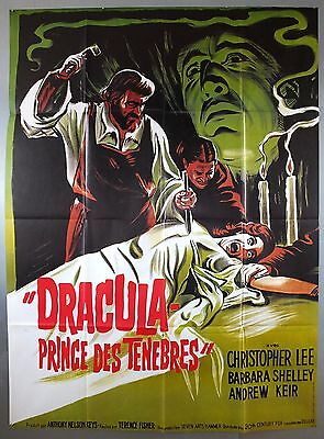 Dracula Prince Of Darkness -Christopher Lee- Original French Grande Movie Poster