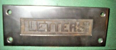 Vintage 'LETTERS' Mail Slot vintage envelope architectural hardware hinged