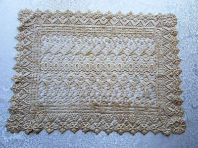 Antique / Vintage Ecru Victorian Lace Dresser Scarf / Table Runner