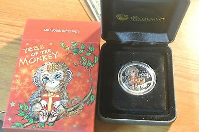 2016 $1 Year of the Monkey 1/2oz Colour Gilded Silver Proof Coin Perth Mint BOX