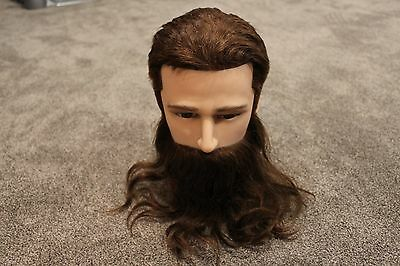 DannyCo Male Mannequin Bearded Man Styling Head, FREE SHIPPING!!!!!!