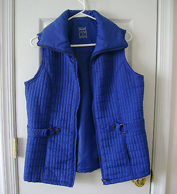 Three Hearts Women's Quilted Lined Lightweight Royal Blue Vest~ Sz. Medium~EUC!
