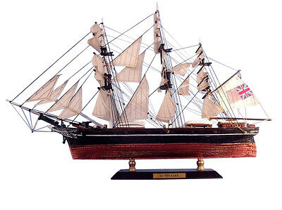 "Cutty Sark China Clipper Tall Ship 15"" Built Wooden Model Boat Assembled"