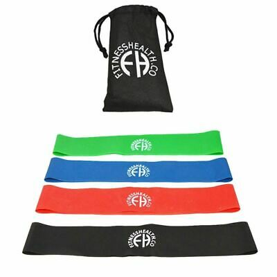FH Leg Loop Resistance Band Set of 4 Levels Exercise Stretch Bands Glute