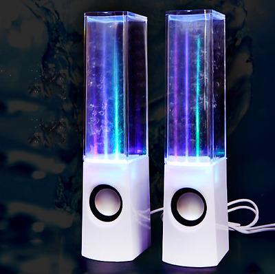 LED WATER DANCING USB SPEAKERS PC/Mac/MP3 Players/Mobile Phones/Tablets Fountain