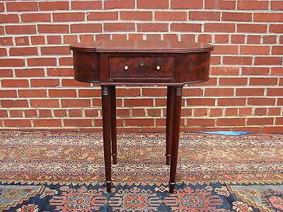 Antique Federal Sheraton Mahogany Sewing Stand