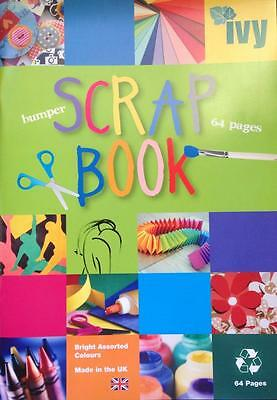 A4+ 64 Page Extra Large Jumbo Scrapbook Colour Sugar Paper Album Crafts Cuttings