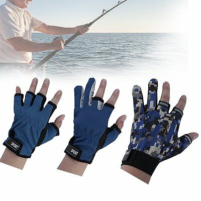 Three fingers Exposed Breathable Fishing Glove Anti-Slip For men and women WS