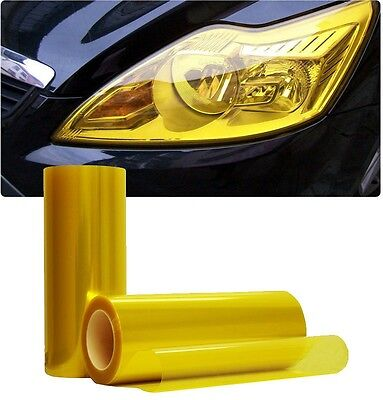 HEADLIGHT TINT GOLDEN YELLOW 30cm x 1000cm