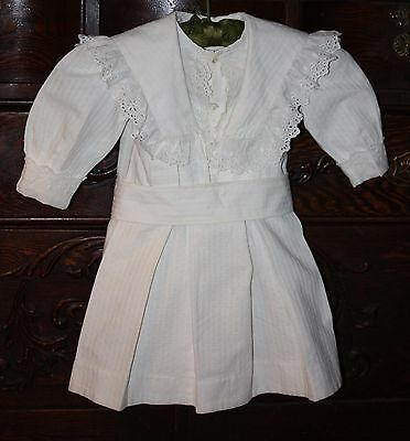 ANTIQUE Victorian Edwardian CHILD'S DRESS doll clothes