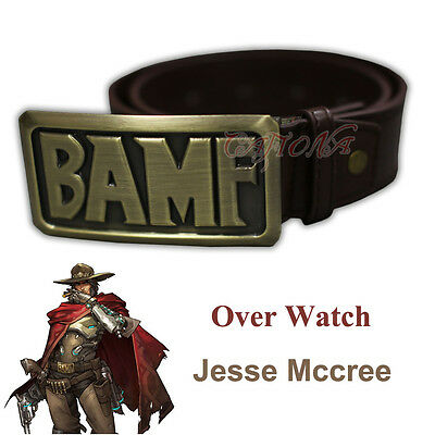 Cafiona Leather Belt Game OW Over Watch Jesse Mccree Cosplay Costume Accessory