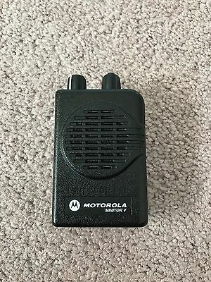 Motorola MINITOR V Low Band PAGER 45-48.995 MHz 2-CHANNEL STORED VOICE w/Prog