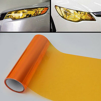 ORANGE HEADLIGHT TINT 30cm x 1000cm