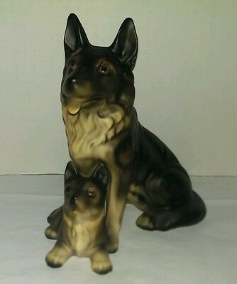 German shepherd Vintage Porcelain Figurine