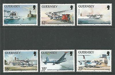 Guernsey 1989 Aviation History--Attractive Airplane Topical (404-09) MNH