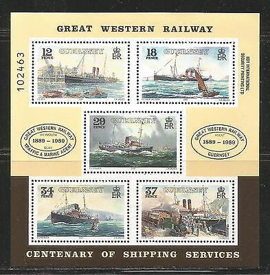 Guernsey 1989 Steamship Service 100th Anniv ss--Attractive Topical (415a) MNH