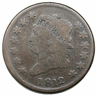 1812 Classic Head Large Cent, Large Date, S-288, R.3, nice G-VG