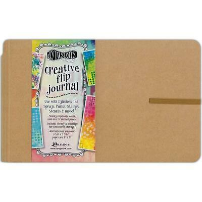 Dylusions Creative Art Journal - Flip Small Landscape Book - Mixed Media Paper